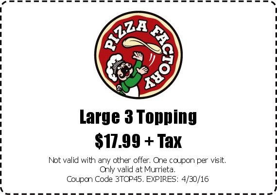 Large 3 Topping $17.99 +Tax